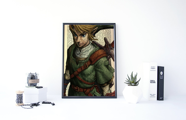 Zelda Wall Decoration : Zelda art poster wall print