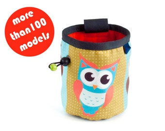 Owl Chalk Bag. Climbing Chalk Bag, Sale Rock Climbing Gifts M