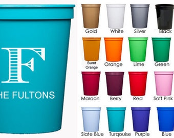 Personalized Stadium Cups {16 oz}