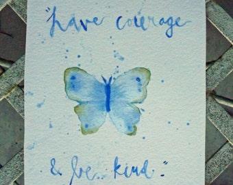 watercolor cinderella quote