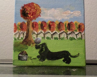 Dachshund dog original