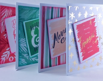 Merry - Christmas cards (set of 4)