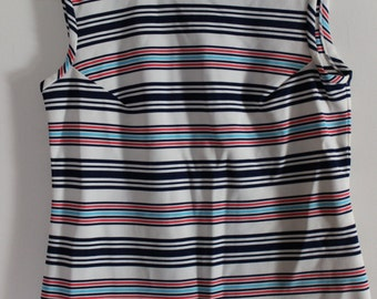 striped vintage tank top from the 1970's
