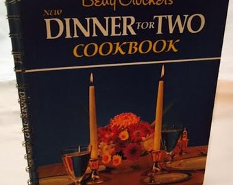 Vintage Betty Crocker's New Cookbook for Two Spiral Bound Mid Century Book