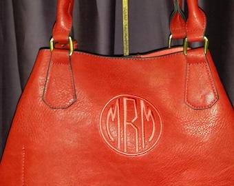 SALE!!!! - Monogrammable Large Faux (Vegan) Leather Handbag - Versatile!
