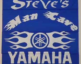 Yamaha Man Cave Personalized Wood Sign