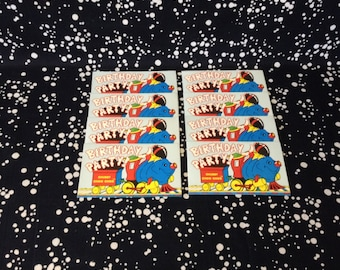 Chubby Choo Choo~Birthday Party Invitations~Set of 8~Unused~Red Envelope~Amscan