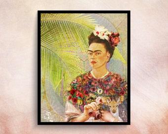Frida Kahlo Art Wall Art Prints Boho Art Decor Vintage Decor Prints Frida Kahlo Poster Woman Art Prints