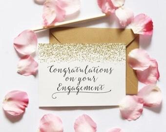 Engagement Card Printable, Printable Card, Congratulations Engagement Card DIY, Congrats Engagement Card Digital Download Instant Download