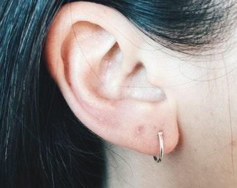 12mm Silver hoop earring, Tiny hoop earring, Tiny hoop, Cartilage hoop, Silver hoop earring, Silver hoop, Brow hoop, Lip ring (H63)
