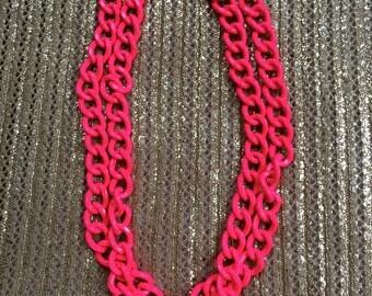 Haute Pink Heavy Metal Necklace