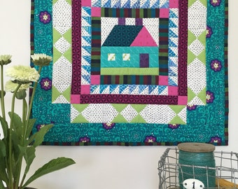 Little House Quilted Wall Hanging