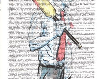 Dictionary Art Upcycle Shaun of the Dead