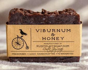 Viburnum&honey Soap - Rustic Soap, All Natural Soap, Handmade Soap, Honey Soap, Viburnum Soap, Homemade Soap,  Fragrance Free Soap