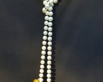 Earth Tones Pearl Necklace