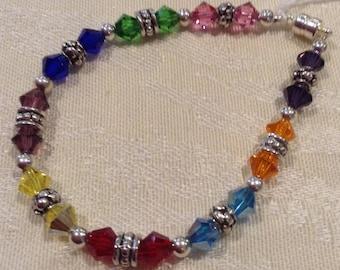 Multicolored Crystals Bracelet