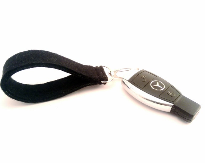 Wool Felt Key Chain Key Ring Handsome Groomsmen Keychain Hand Sewed Alloy Key Ring