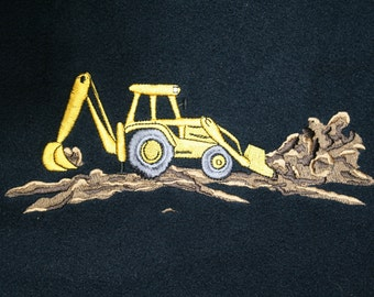 Digger fleece with embroidered diggers