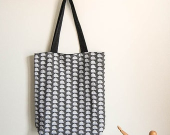 Tote bag reversible cotton