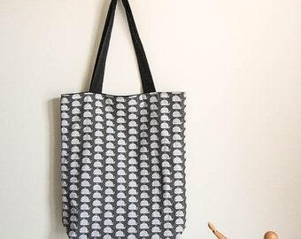 Tote bag reversible cotton