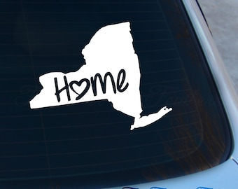 New York Decal - State Decal - Home Decal - NY Sticker - Love - Laptop - Macbook - Car Decal