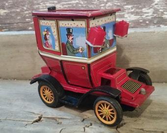 Tin toy car, vintage tin car, old car toy