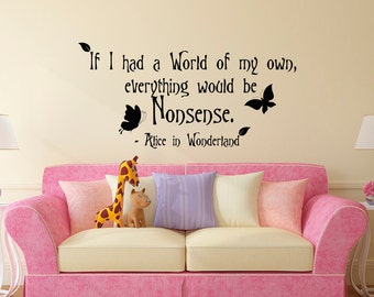 Alice In Wonderland Wall Art it's always tea time wall decal quote alice in wonderland