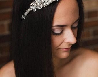 Bridal Tiara, Bridal Headband, Wedding Headband ,Crystal Headband ,Bridal Wreath, bridal crown ,bridal hair,  bridal hairpiece, wedding hair