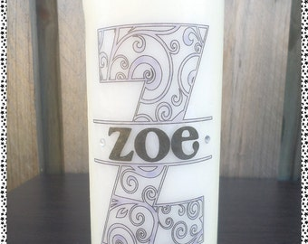 Decorative Name Candles
