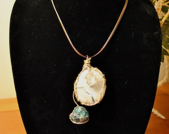 Tree Agate, Apatite & Herkimer Diamond Wire Wrapped