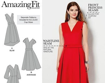 Simplicity Pattern 1011, Simplicity Pattern 0308 Amazing Fit Dress Pattern