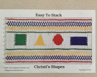"Smocking Plate ""Christi's Shapes"" by Marsha Evans"