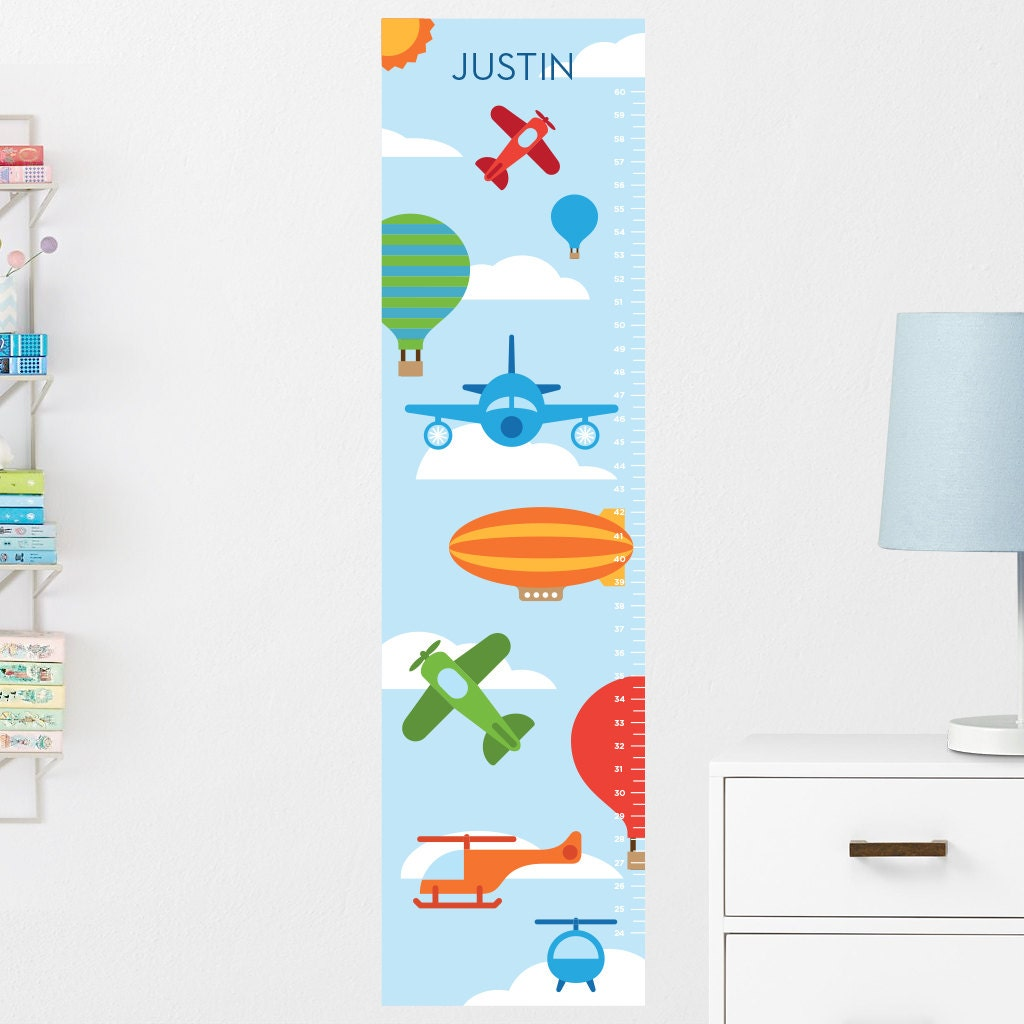 Airplanes Growth Chart Decal Wall Growth Chart Decal Growth Chart