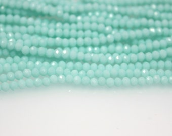 150pcs Crystal Glass Rondelle Opal Faceted beads opal  3x4mm #6016