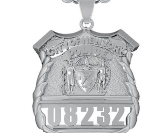 NYPD Shield Pendant - Police Officer - Sterling Silver