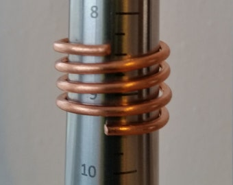COPPER SPIRAL RING Size 9 Free Shipping