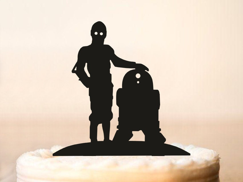 C3po And R2d2 Cake Topperstar Wars Cake Topperstar Wars