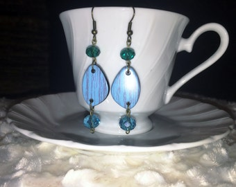 Blue Driftwood Earrings