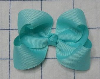 Mint Boutique Bow, Boutique Bow, Hair Bow, Girls Bow, Mint Bow, Baby Bow, Hair Accessories