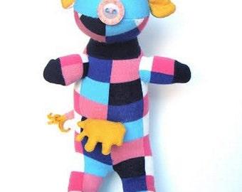teddy bear plushie birthday gift a funny cow