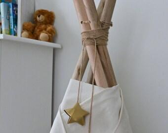 CUSTOM star teepee topper, teepee garland, paper star garland, nursery decor, playroom decoration, kids room, baby shower, origami garland