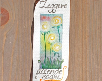 "Paper bookmark ""Read turn dreams""/""Reading Bookmark Paper lights up dreams"""