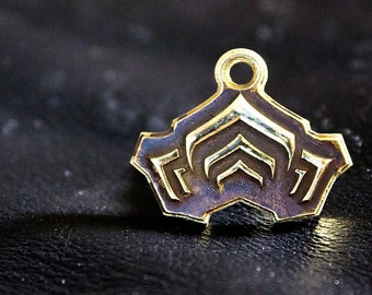 Warframe Pendant - Free Shipping - Hand-made Brass Pendant - Warframe Inspired Jewellery