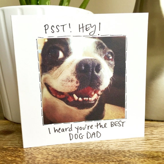 Father's Day card from the dog, #1 Dad, Fathers Day Card Funny, Dog dad, Boston Terrier card, Dog Dad card, Dog Father's Day card