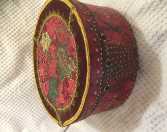 Decoupaged Hat Box