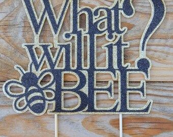 What Will it Bee Cake Topper. What Will it Bee Baby Shower. Baby Shower Cake Topper. Gender Reveal. Gender Neutral. Gender reveal party. Bee