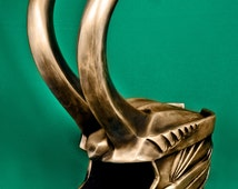 Loki cosplay helmet from Avengers, Marvel, replica prop, headpiece with horns, Marvel, costume, Thor, Odin, Tom Hiddleston, Asgard
