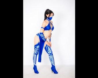 Kitana cosplay costume Mortal kombat, Halloween costume, the video game, ninja costume, princess assasin, dress adult