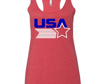 July 4th Tank. 4th of July Shirt Women.  American Flag Tank Top. 4th of July Tank Top. July 4th Tee. Star. Country Music Shirt. Heart Flag