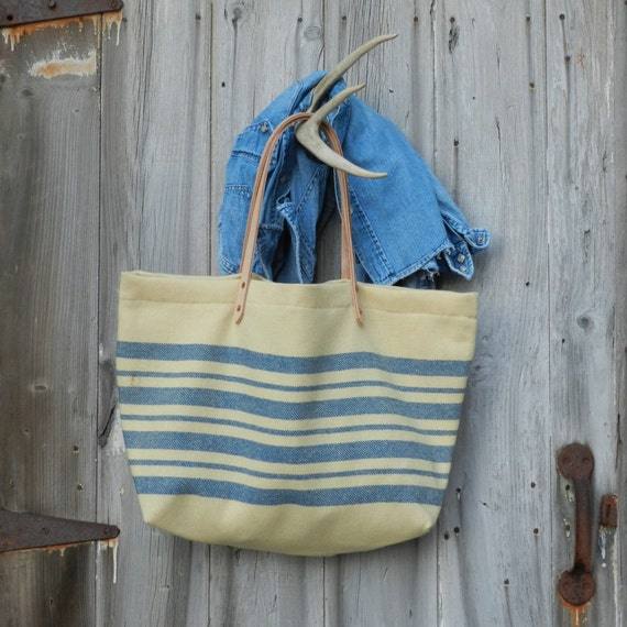 1930s Wool Stripe Bag